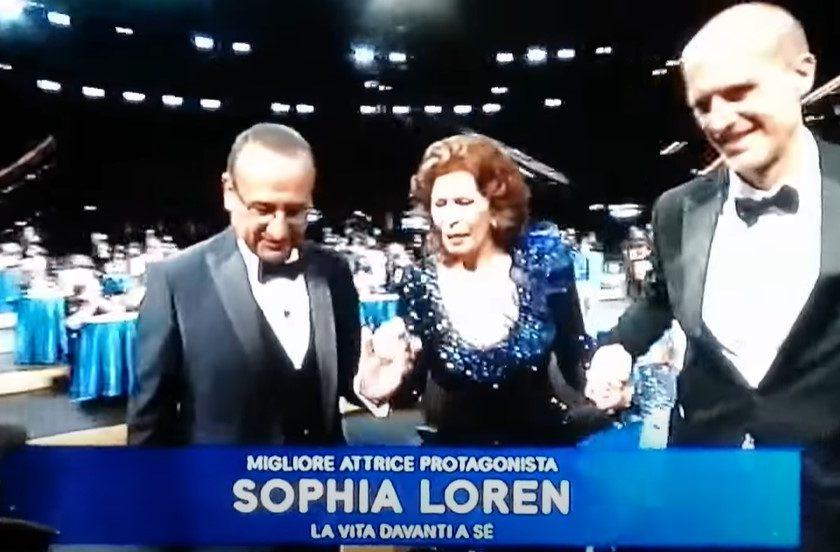 """David di Donatello 2021: Sophia Loren miglior attrice e """"Volevo nascondermi"""" miglior film"""